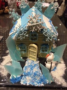 Frozen gingerbread house!