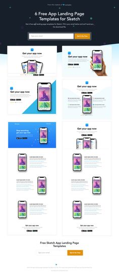 App Template for Sketch Landing Page Design Example for Inspiration | Landingfolio