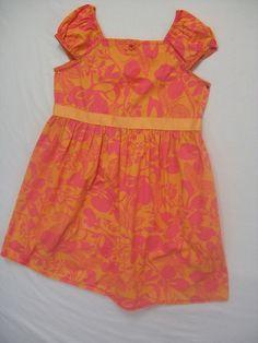 HANNA ANDERSSON GIRLS SIZE110 5-6X DRESS 100% COTTON SUMMER SHORT SLEEVE PINK #HannaAndersson #Dress #Everyday