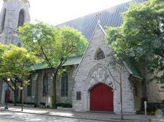 St. Paul's Episcopal Church, corner of East Fayette and Montgomery Streets...I used to eat lunch near the fountains in the courtyard everyday when I worked in downtown Syracuse.