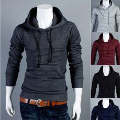 Comfy fitted hoodie. I love mens hoodies.