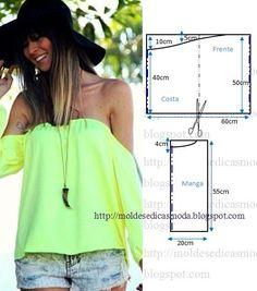 Modelo de blusa muito apreciado pelas mulheres esta blusa ciganinha fácil vai fazer as delicias de muitas seguidoras que gostam de roupa prática.