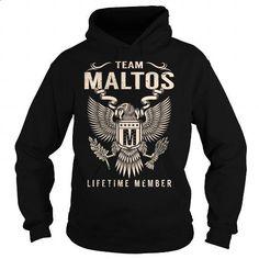 Team MALTOS Lifetime Member - Last Name, Surname T-Shirt - #homemade gift #cheap gift