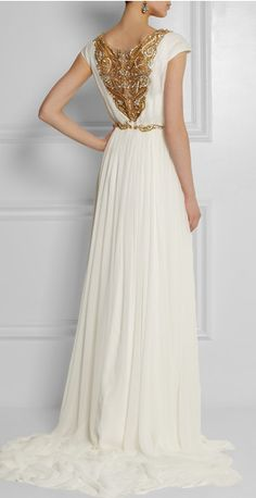 Look like a Greek goddess in Marchesa