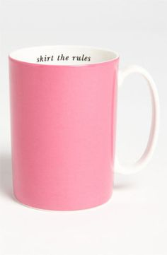 kate spade new york 'say the word - skirt the rules' porcelain mug | Nordstrom