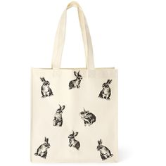 FOREVER 21+ PLUS SIZES Bunny Parade Shopper Tote (32 MXN) ❤ liked on Polyvore featuring bags, handbags, tote bags, white tote, white shopping bags, shopping tote, white tote bag and forever 21 totes