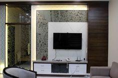 Naresh Arora by Sankalp Arora, Interior Designer in Jaipur,Rajasthan, India Built In Wall Units, Modern Tv Wall Units, Living Room Tv Unit Designs, Interior Design Living Room, Bedroom False Ceiling Design, Bedroom Ceiling, Simple Tv Unit Design, Lcd Panel Design, Tv Unit Furniture Design