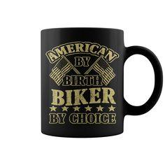 American By Birth Biker By Choice HOT MUG => Seach more: mugs make me happy, coffee mug, unique mug, mug diy, mug designs, funny mug #mugs #ideas #image #photo #gift #mugcoffee #coolmug