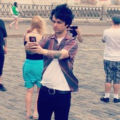 Y'know. Just standing here, casually takin' a selfie. No big deal.