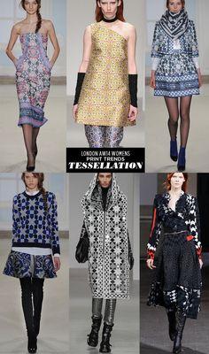 pattern people AW14 Womens Print Trends London tessellation Runway | AW14 Womens London Print Stories