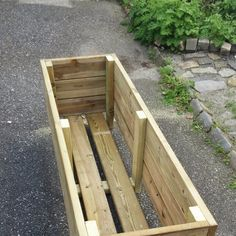 Diy Wooden Planters, Outdoor Planters, Outdoor Gardens, Outdoor Projects, Garden Projects, Planter Box Designs, Garden Planter Boxes, Diy Home Crafts, Garden Planning