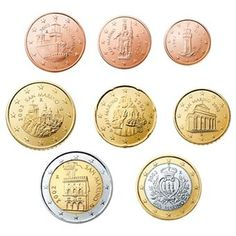 Alle euromunten - Euromunten en biljetten Euro, Coins, Cavities, Silver, Money
