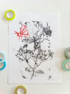 Botanical transfer monotype, ANNIE KOELLE
