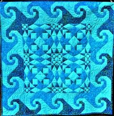 Storm at Sea + Snail's Trail = Breezy Tidal Waves Quilt Pattern