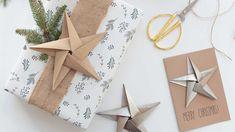Christmas: make origami stars - Best DIY Ideas Origami Simple, Cute Origami, Useful Origami, 3d Origami, Origami Bookmark, Christmas Tree Box Stand, Christmas Makes, Christmas Origami, Christmas Diy