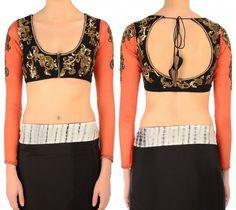 u-shape neck blouse