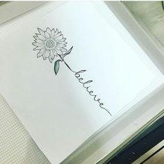 """Mi piace"": 42, commenti: 2 - Diana Moreno (@dianital0v3) su Instagram: ""My next tat i think soo :D #favoriteflower #sunflower #tattoo #believe"""