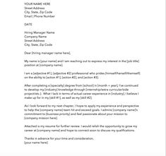 11 Cover Letter Templates to Perfect Your Next Job Application Good Cover Letter Examples, Creative Cover Letter, Simple Cover Letter, Perfect Cover Letter, Free Cover Letter, Job Cover Letter, Writing A Cover Letter, Cover Letters
