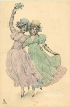 Коллекция картинок: антикварные открытки