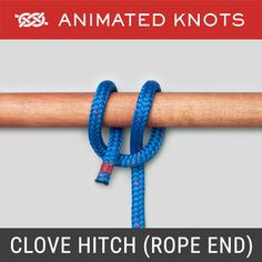 The Square Knot (Reef Knot) is usually learned when we tie our shoelaces. Admittedly it is usually a bow that we tie - but the underlying knot is a Square Knot. Animated Knots By Grog, Prusik Knot, Clove Hitch Knot, Lanyard Knot, Scout Knots, Sailing Knots, Bowline Knot, Survival Knots, Survival Skills