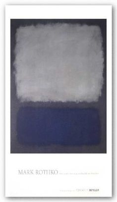 """Blue and Gray by Mark Rothko 27.5""""x25"""" Art Print Poster by Rare Posters, http://www.amazon.com/dp/B0035GGRP8/ref=cm_sw_r_pi_dp_DlTzsb11FHR15"""