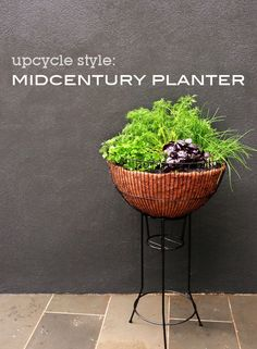 How to make an Upcycled Midcentury planter