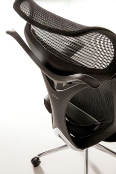 Sabrina is an infinitely classic, yet modern, mesh-back task chair. Visually sculptural in frame and profile, Sabrina features an innovative back ring structure symbolizing the interconnection of comfort and design. Funny Furniture, Unique Furniture, Office Furniture, Furniture Design, Office Chairs, Cool Office, Ergonomic Chair, Bedroom Office, Chair Design