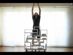 Real-life Tetris bookshelf by architect Guillermo Cameron Mac Lean