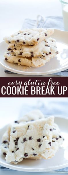 Gluten free cookie break up makes the crispiest cookies you've ever had. Ready in 20 minutes flat, and made with just 5 simple ingredients!