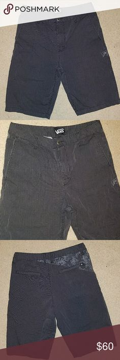 Vans shorts men's size 30 Awesome classic vans gently used still in great condition  If you have any questions please let me know I'll take pictures of whatever angle of the shorts you're interested in looking at  Currently accepting offers bundle to save money Vans Shorts Cargo