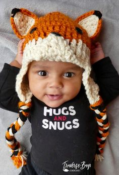 Fox Hat Hand Knitted Handmade All sizes baby child adult