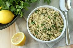 Give rice a break and cook up some fluffy quinoa! Save the recipe for Lemon Herb Quinoa Healthy Snacks, Healthy Eating, Healthy Recipes, Fodmap Recipes, Healthy Dinners, Diet Recipes, Clean Eating, Meatless Recipes, Vegetarian Meals