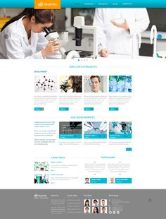 Website Template , Science Lab