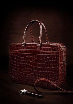 Alligator briefcase for men, Luxury alligator leather briefcase 2018