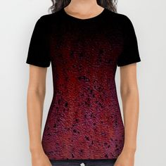 Cool Red Brown and Black Rust Metal Petina all over print shirt by #PLdesign #rusty #cool #RustyTexture