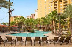 Poolside Wyndham Bonnet Creek Resort in Orlando Florida #family #vacation #travel #disney #FL #Orlando