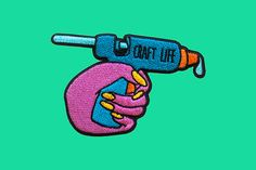 craft life | Iron on embroidered patch by dannybrito on Etsy (null)