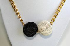 Black necklace. White Necklace. Bold chunky and by VsBeadDesigns