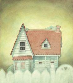 Quentin Gréban - Un dinosaure derrière la maison | Oeuvres | Galerie Robillard