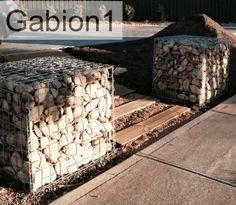 Gabion entrance  Low Cost gabions Cheaper than block stone gabion walls are easy to build  http://www.gabion1.com.au
