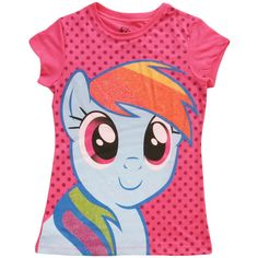 Girls My Little Pony Rainbow Dash T-Shirt ❤ liked on Polyvore featuring shirts, kids clothes, kids, tops and girls