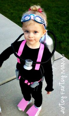 My daughter Chelsea used to try to wear my scuba gear and we would dress her up like a diver....moments a dad never forgets...Miss you Angel