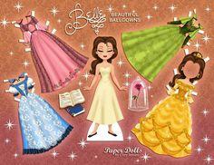Beauty and the Beast - Cory Jensen - Бумажные куклы - Каталог статей - Бумажные куколки Paper Toys, Paper Crafts, Disney Paper Dolls, Broadway Costumes, Quiet Book Templates, Disney Printables, Paper Dolls Printable, Disney Beauty And The Beast, Blue Gown