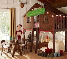This is the CUTEST bed set-up EVER for the kids!!!!!  So sooooo cute!  And I LOVE the lights on the outside!   <3