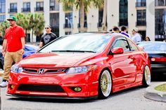Metallic Red on this Honda Civic Coupe