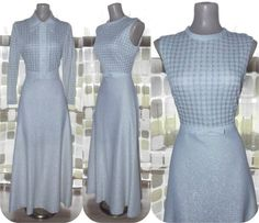 Vintage 70s Silver Metallic Lurex Houndstooth by IntrigueU4Ever, $55.25