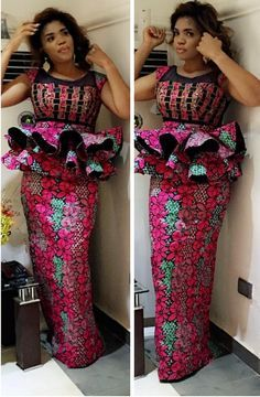 Beautiful Multicoloured African Long Dress I came across this beautiful long dress that will compliment any outfit choice. Perfect for ALL OCCASSIONS and at a great PRICE Best African Dresses, African Lace Styles, African Traditional Dresses, Latest African Fashion Dresses, African Print Dresses, African Attire, African Print Fashion, Ankara Styles, Ankara Fashion