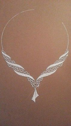 OA Seed Bead Jewelry, High Jewelry, Pearl Jewelry, Beaded Jewelry, Jewelery, Jewelry Design Drawing, Edwardian Jewelry, Jewelry Illustration, Jewellery Sketches