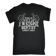 123t USA Men's This Is What An Awesome Dentist Looks Like Funny T-Shirt