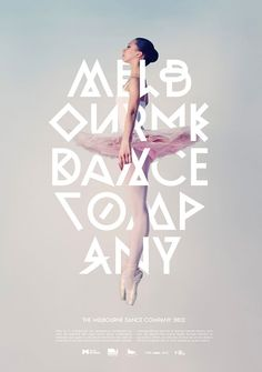 """PG314 """"The Melbourne Dance Company"""" Poster by Josip Kelava (2012)"""
